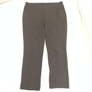 Talbots Heritage Dark Brown Dress Pants 14W